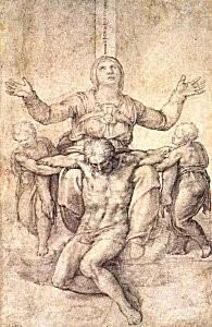 Michelangelo Study for the Colonna Pieta